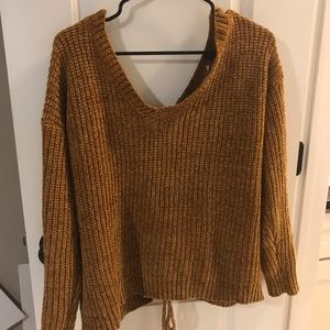 Urban Outfitters Sweaters - Mustard colored sweater with tie up back